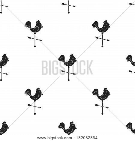 Weather vane icon in black style isolated on white background. Weather pattern vector illustration.