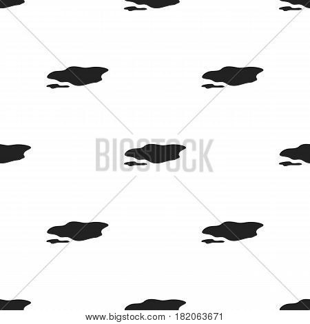 Puddle icon in black style isolated on white background. Weather pattern vector illustration.