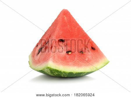 A ripe juicy watermelon isolated on white background