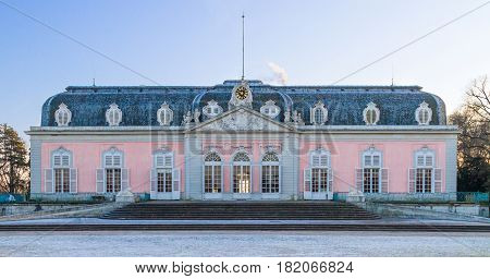 Dusseldorf North Rhine-Westphalia Germany - January 22 2017 Castle Benrath