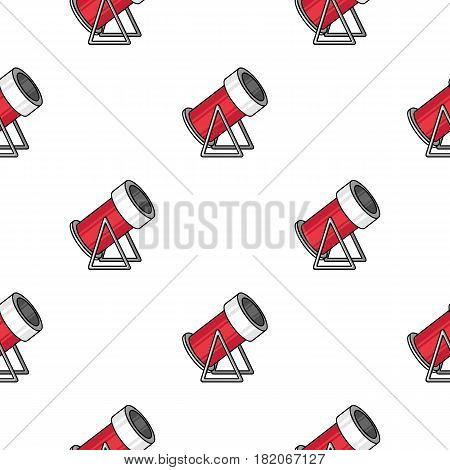 Snow cannon icon in cartoon style isolated on white background. Ski resort pattern stock vector illustration.