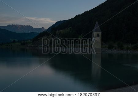 Lago di Resia (campanile sommerso) Trentino Alto Adige