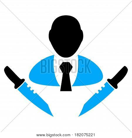 Butchery Boss vector pictograph. a flat isolated illustration on a white background.