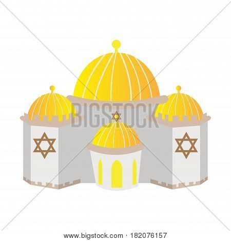 Isolated synagogue building on a white background, Vector illustration