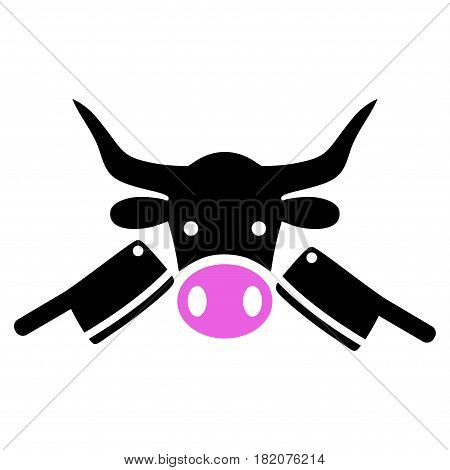 Butchery vector icon. a flat isolated illustration on a white background.