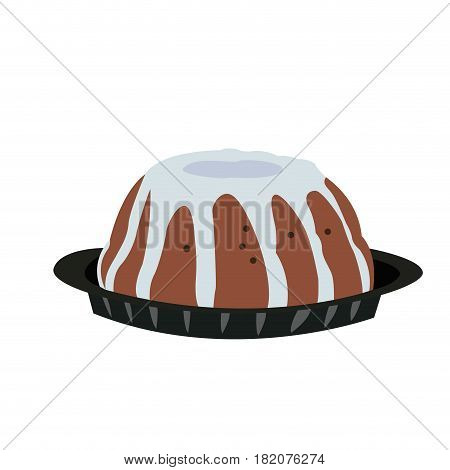 Isolated traditional jewish dessert on a white backgrond, Vector illustration