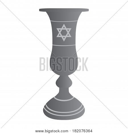 Isolated traditional jew wine cup, Vector illustration