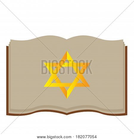 Isolated jewish bible on a white background, Vector illustration