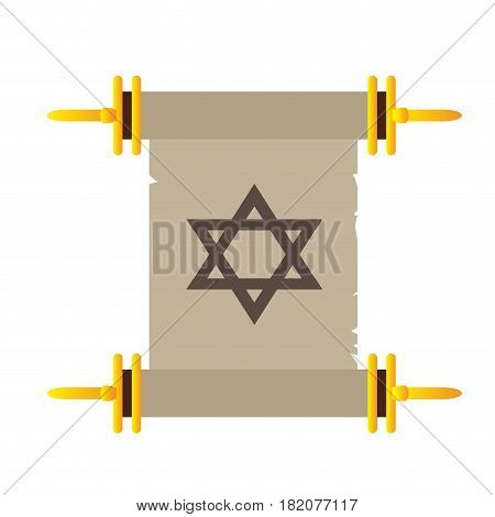 Isolated traditional torah on a white background, Vector illustration