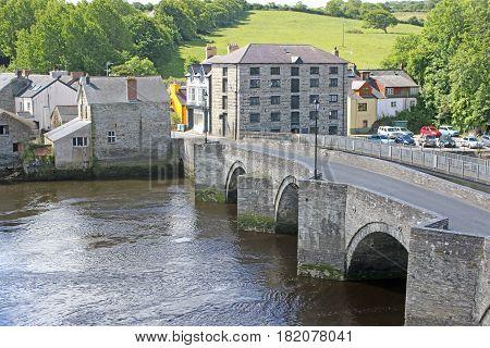 Bridge over the river Teifi in Cardigan