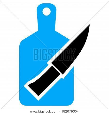 Cutting Board And Knife vector icon. a flat isolated illustration on a white background.