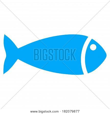 Fish vector pictogram. a flat isolated illustration on a white background.