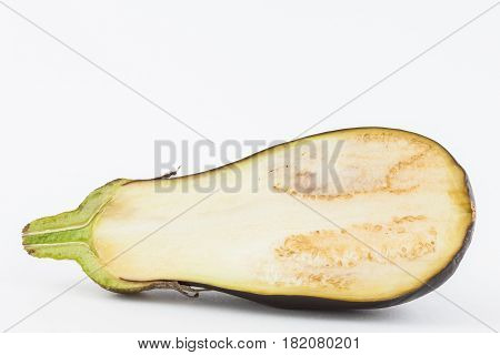 Eggplant (Solanum melongena) isolated in white background