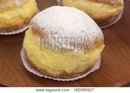 Sonho, Brazilian Bakery Dream. Traditional Brazilian Dessert.