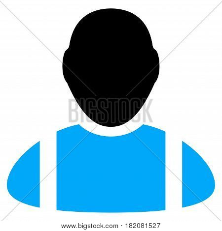 Worker vector illustration. a flat isolated illustration on a white background.