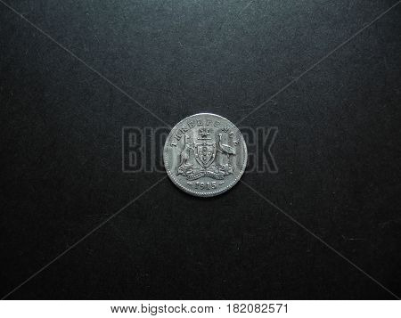 Pre-decimal Vintage Australian silver Threepence coin photo.