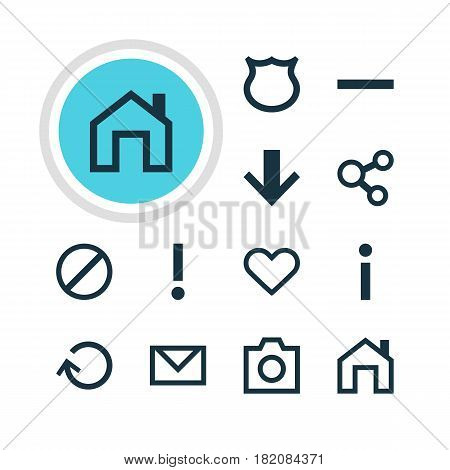 Vector Illustration Of 12 Member Icons. Editable Pack Of Conservation, Renovate, Publish And Other Elements.