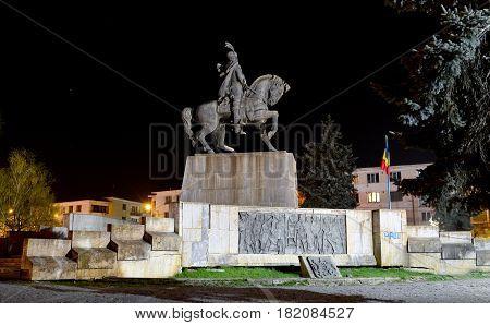 Cluj Napoca city Romania Statue of Mihai Viteazu landmark architecture