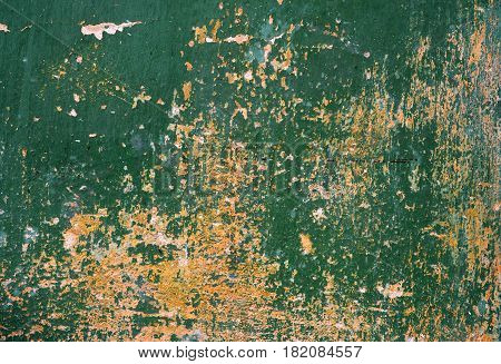 shriveled paint wall green texture background pattern