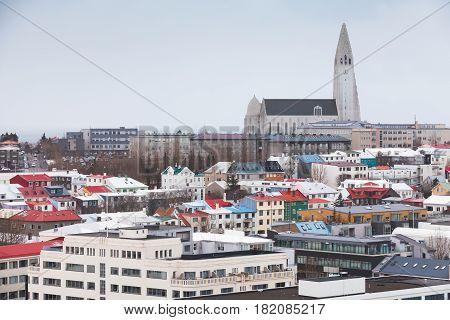 Skyline Of Reykjavik, Capital City Of Iceland