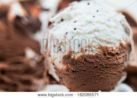 Vanilla And Chocolate Ice Cream