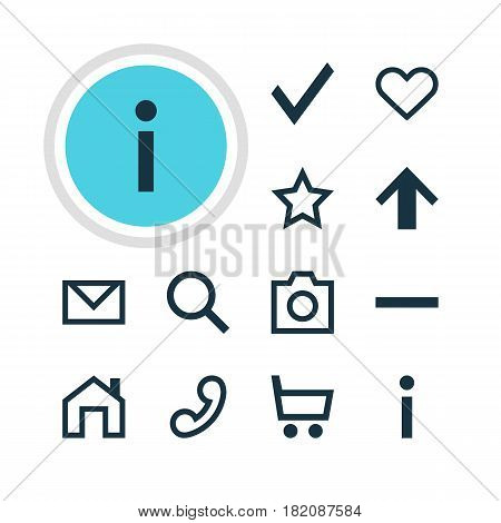 Vector Illustration Of 12 Interface Icons. Editable Pack Of Snapshot, Wheelbarrow, Top And Other Elements.