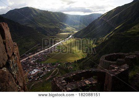 Sacred Valley. Pisac and the Urubamba River