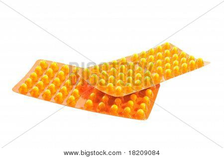 Package with yellow tablets