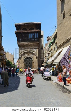 CAIRO, EGYPT - MAY 21, 2016: Historical Khan El-Khalili Souq marketplace is one of the tourist magnets in Capital City Cairo, Egypt.