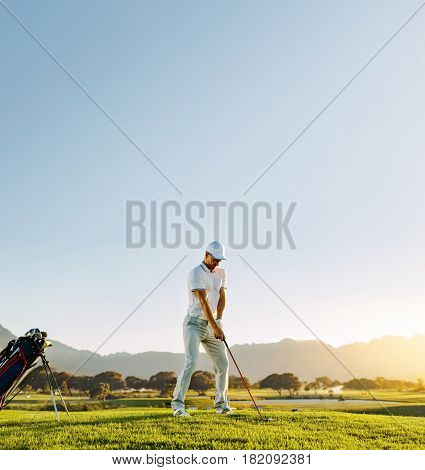 Professional Golf Player Playing On Sunny Day