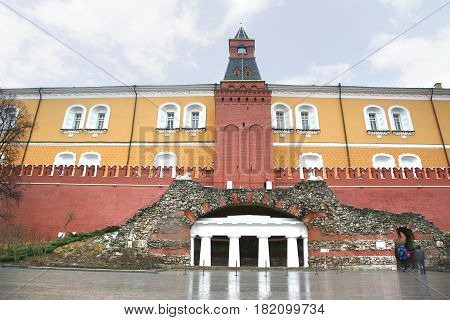 Moscow russia - March 19 ,2017 : The Grand Kremlin Palace was built in 1849 at moscow ,Russia