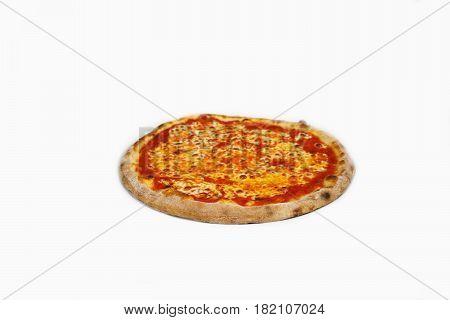 Pizza sos de tomato margherita isolated,restaurant italian food