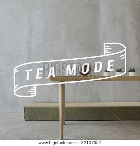 Tea Time Break Leisure Concept