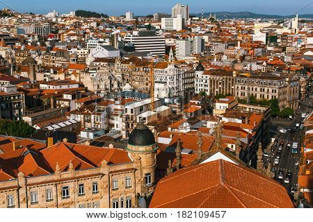 Bird's-eye view of Porto, Portugal.