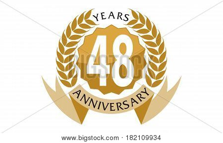 This vector describe about 48 Years Ribbon Anniversary