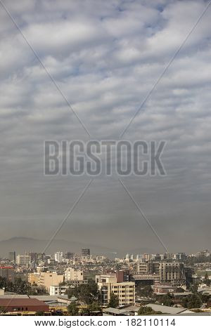vertical image of Addis Ababa, Ethiopia