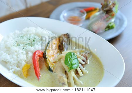 Special Curry Rice With Eggplant And Basil