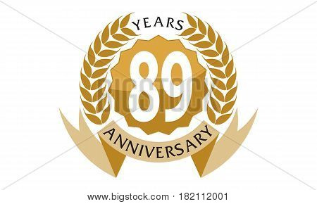 This vector describe about 89 Years Ribbon Anniversary