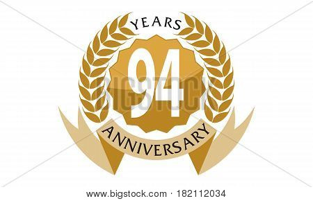 94 This vector describe about 1 Years Ribbon Anniversary