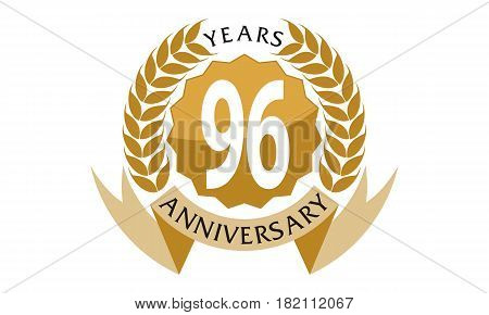 96 This vector describe about 1 Years Ribbon Anniversary