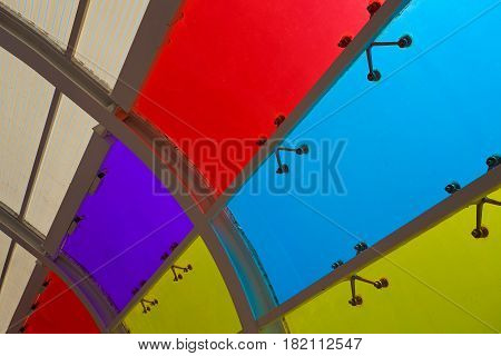 Color Glass Windows Of Background