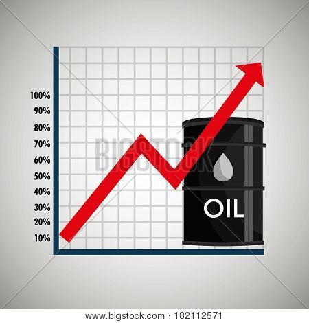oil prices infographics icon vector illustration design