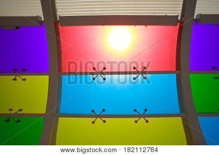 The Sun Is Shining Color Glass Windows Of Background