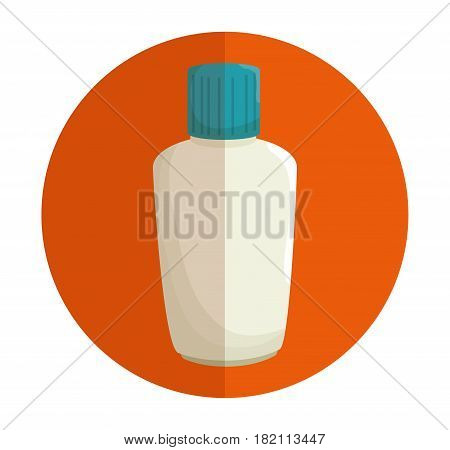 plastic bottle blocker isolated icon vector illustration design