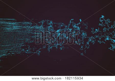 Wavy abstract graphic design a sense of science and technology background.