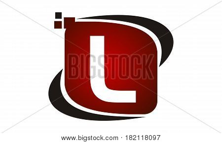 This vector describe about Logo Technology Motion Synergy Initial L