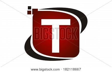 This vector describe about Logo Technology Motion Synergy Initial T
