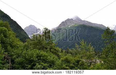 Dombay the Republic of Karachay-Cherkessia in the North Caucasus Russia. Photo taken on: July 26 Friday 2013