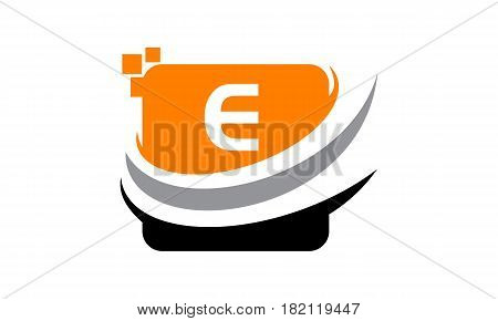 This vector describe about Logo Technology Motion Synergy Initial E