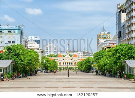 Scenic View Of Ho Chi Minh Square In Vietnam